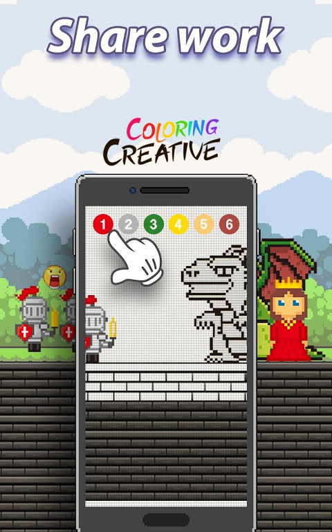 Android Coloring Creative - Color by Numbers & Pixel Art Screen 6