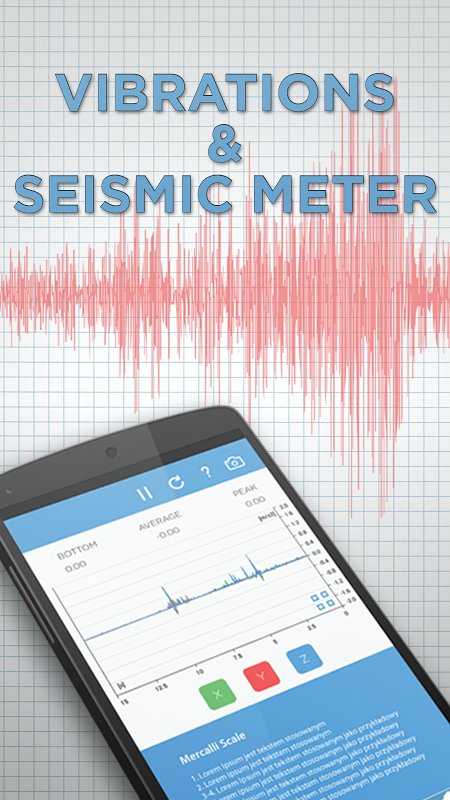 Android Vibrations & Seismic Meter Screen 2