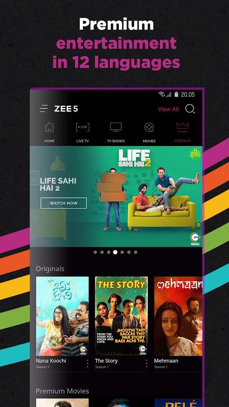 ZEE5 - Movies, TV Shows, LIVE TV & Originals 11.2.134 Screen 5