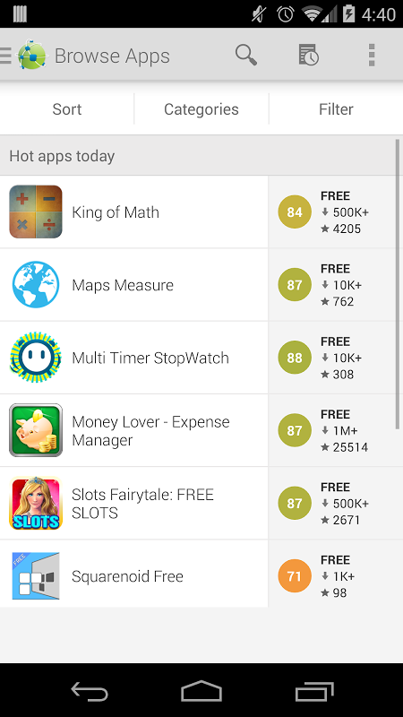 Android AppBrain App Store Screen 6