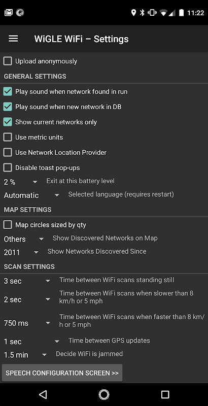 WiGLE WiFi Wardriving 2.39 Screen 6