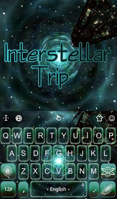 Android Interstellar Trip Keyboard Screen 1