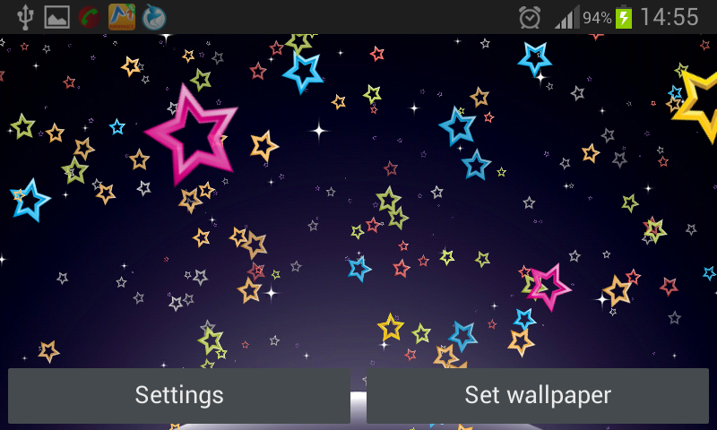Android Stars Live Wallpaper Screen 2
