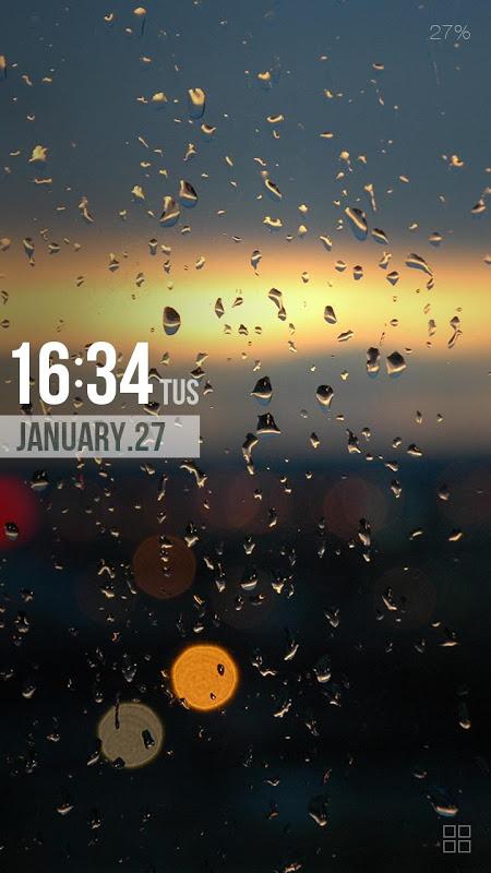 Android ZUI Locker Theme - Drops Screen 1