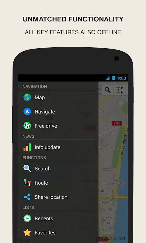 Android GPS Navigation & Maps - Scout Screen 3