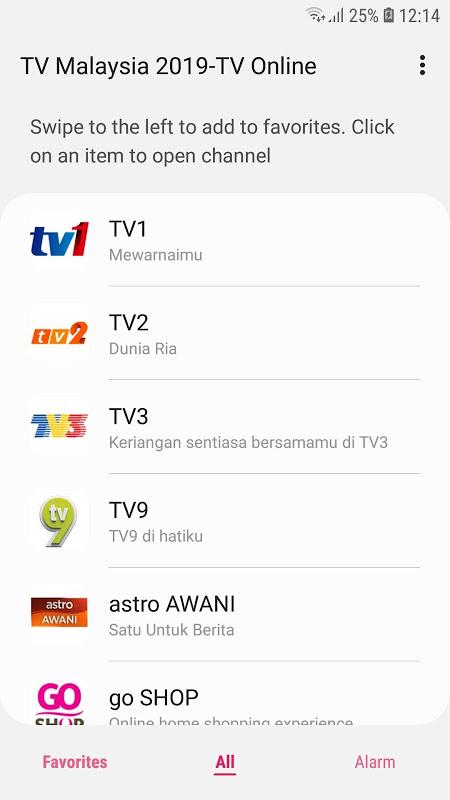 TV Malaysia 2019-TV Online 1.3.2 Screen 1