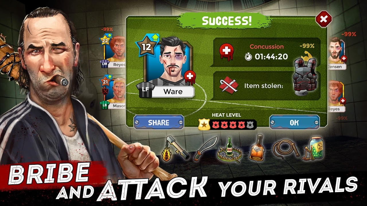 Android Underworld Football Manager - Bribe, Attack, Steal Screen 4