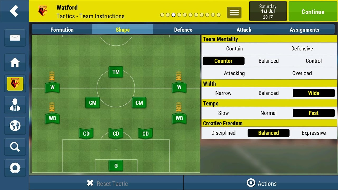 Football Manager Mobile 2018 9.0.3 (ARM) Screen 1