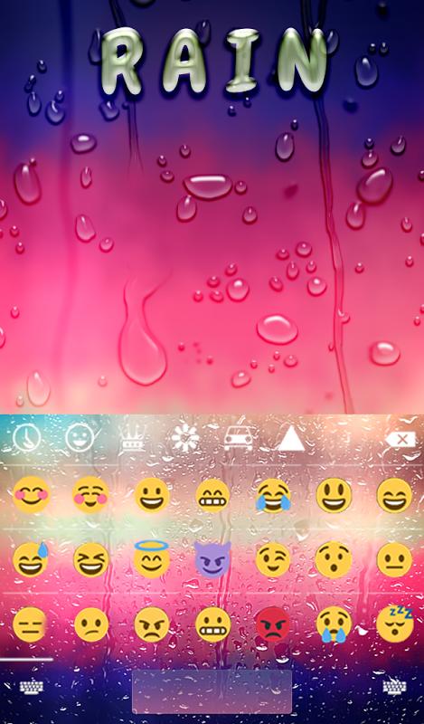 Rain Animated Keyboard 1.45 Screen 3