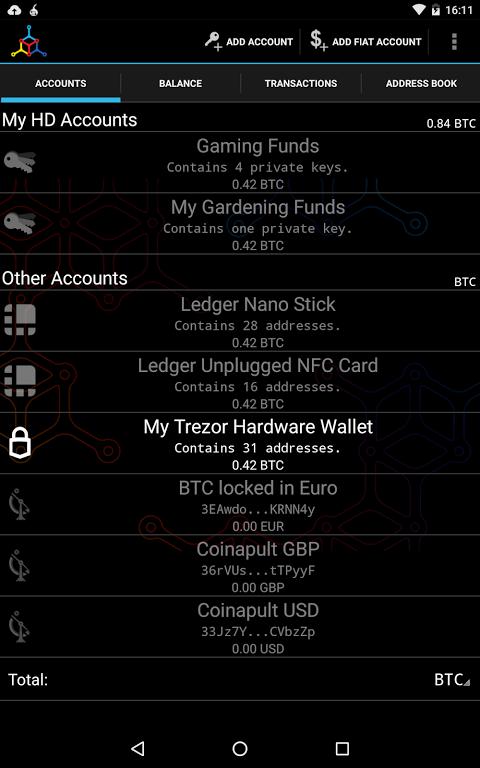 Android Mycelium Bitcoin Wallet Screen 8