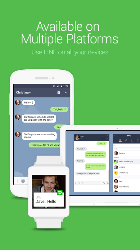 Android LINE: Free Calls & Messages Screen 2