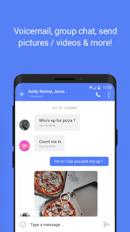 Android TextNow - Free US Phone Number Screen 4