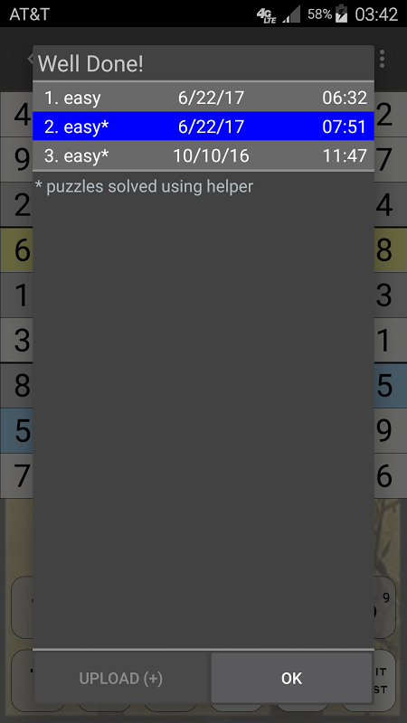 Android Sudoku Screen 5