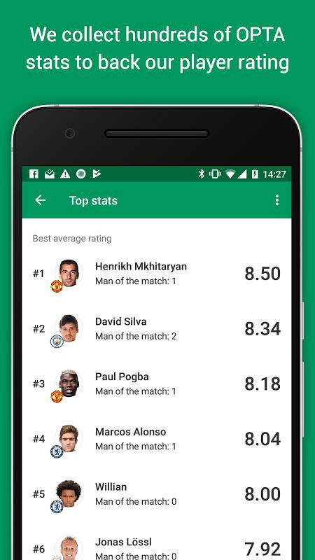 Android FotMob Screen 5