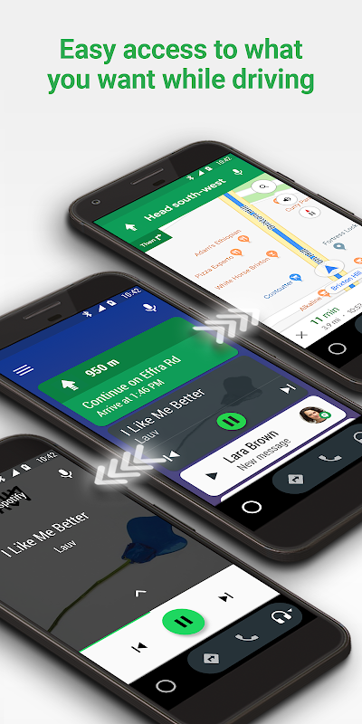 Android Android Auto - Google Maps, Media & Messaging Screen 4