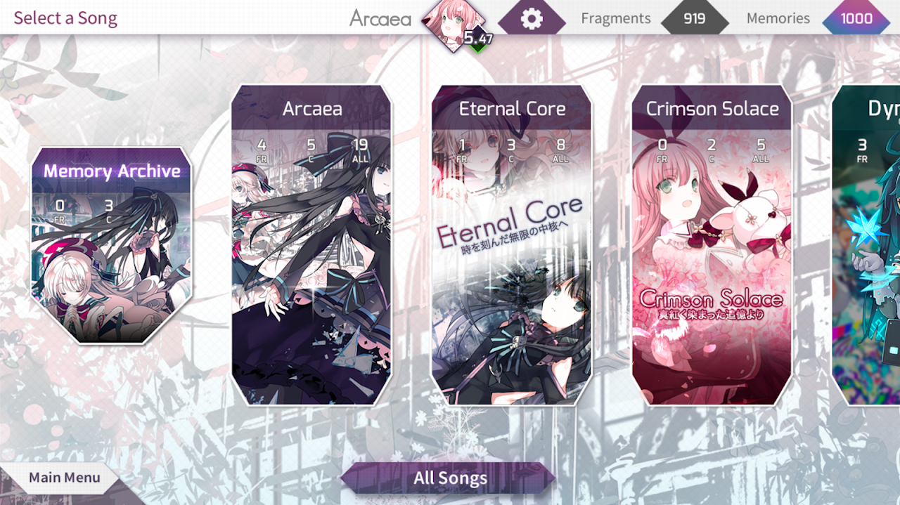 Arcaea - New Dimension Rhythm Game 2.0.3 Screen 4