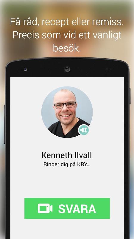 KRY - Läkarbesök i mobilen 2.3 Screen 1