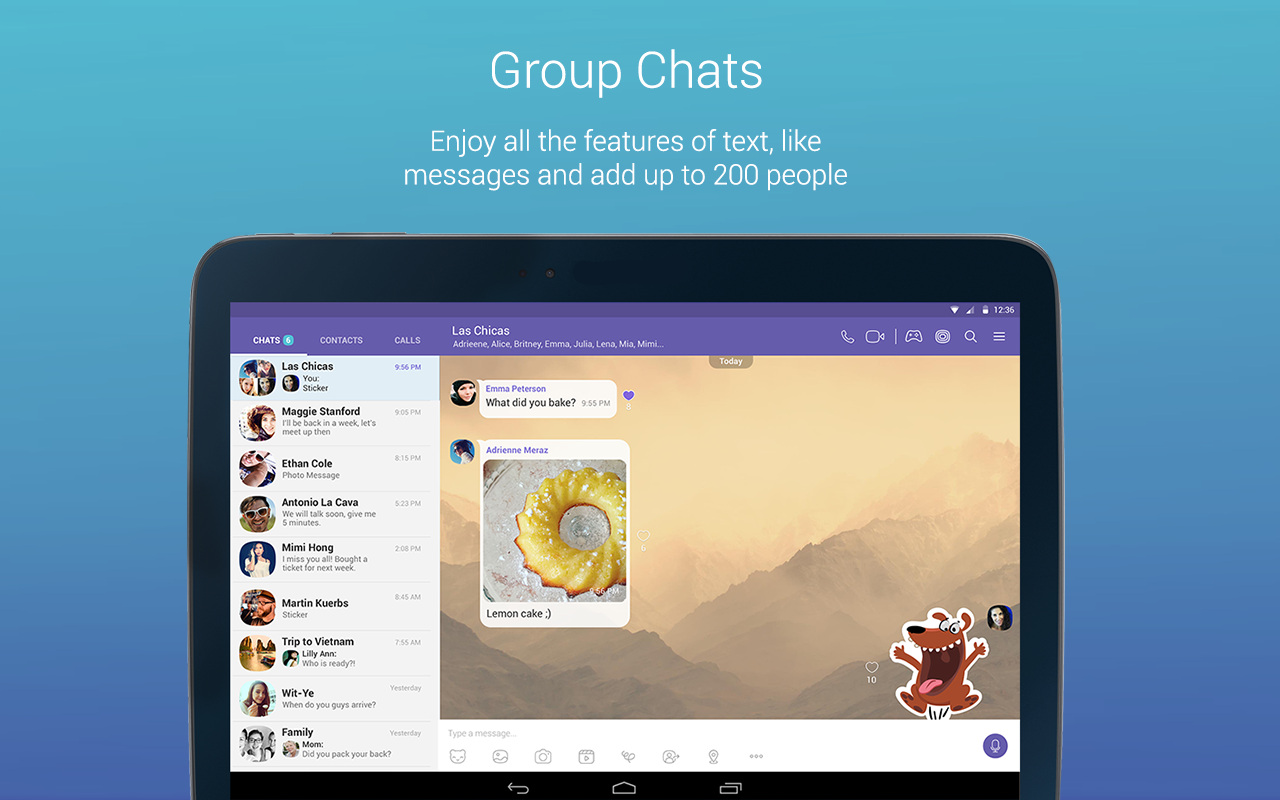 Android Viber Messenger: Text, call and make video calls Screen 4