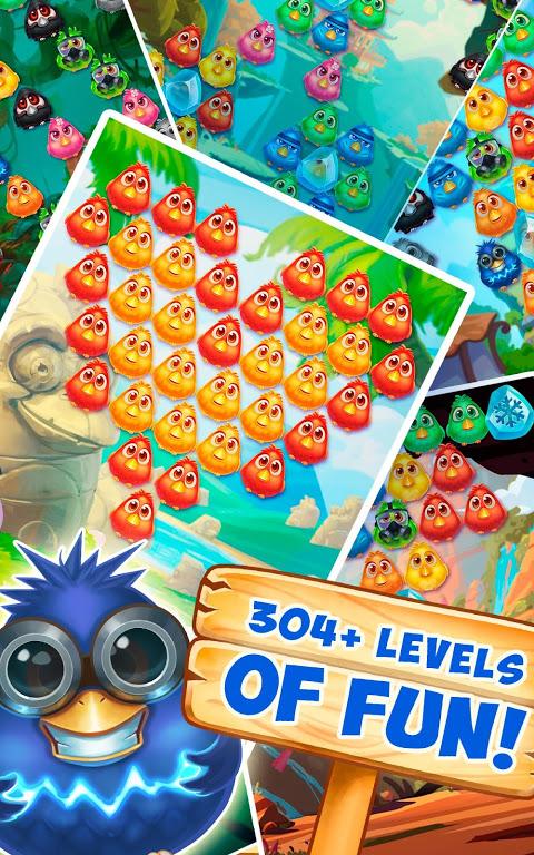 Bubble Birds 4 - Rescue Falling Funny Birds 2.4.1 Screen 1