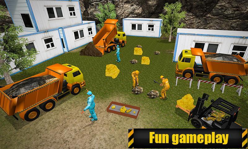 Gold Mine Construction Zone 3D: Crane Operator Sim 1.0.5 Screen 2