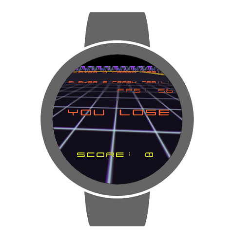 Tron Bikes for Android Wear 1.4 Screen 3