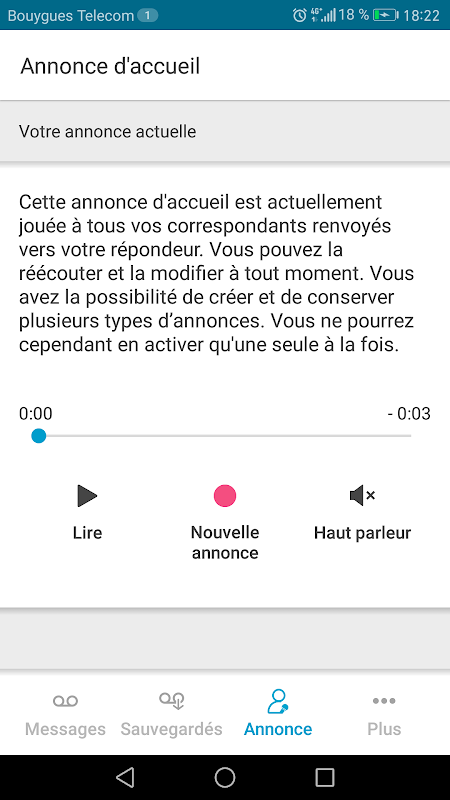 Android Messagerie vocale visuelle Screen 2