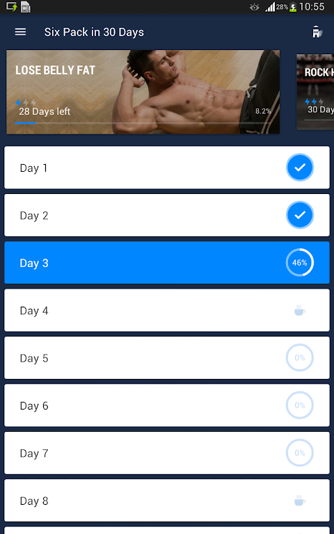 Six Pack in 30 Days - Abs Workout 1.0.10 Screen 6