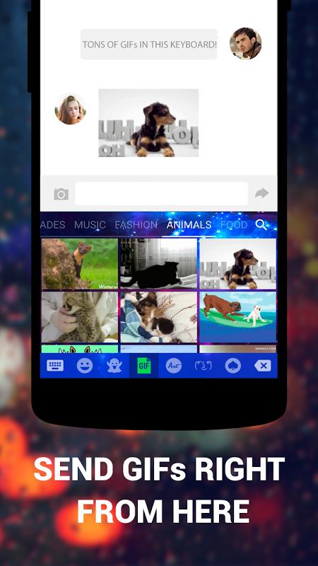 Android Cute Emoji Keyboard Premium - GIF, Emoticons Screen 6