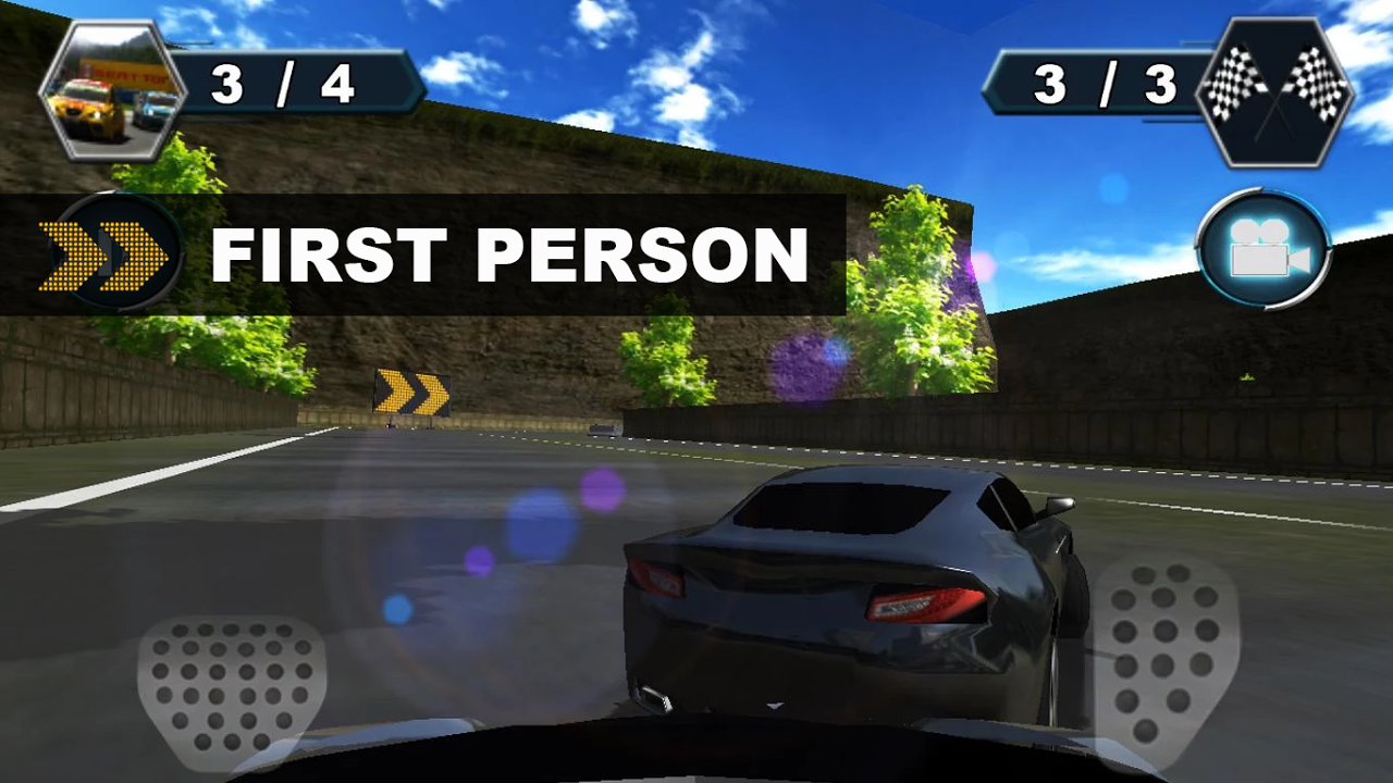 Android Car Racing Screen 1
