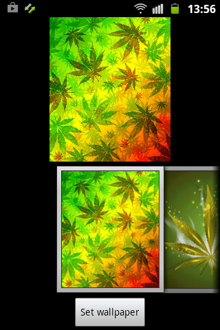 Android Weed Reggae HD GO Launcher Screen 5