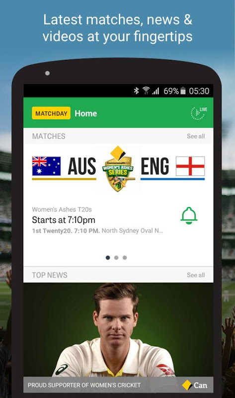 Android Cricket Australia Live Screen 4
