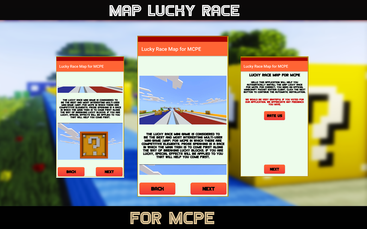 Android Lucky Race  - Map for MCPE Screen 2