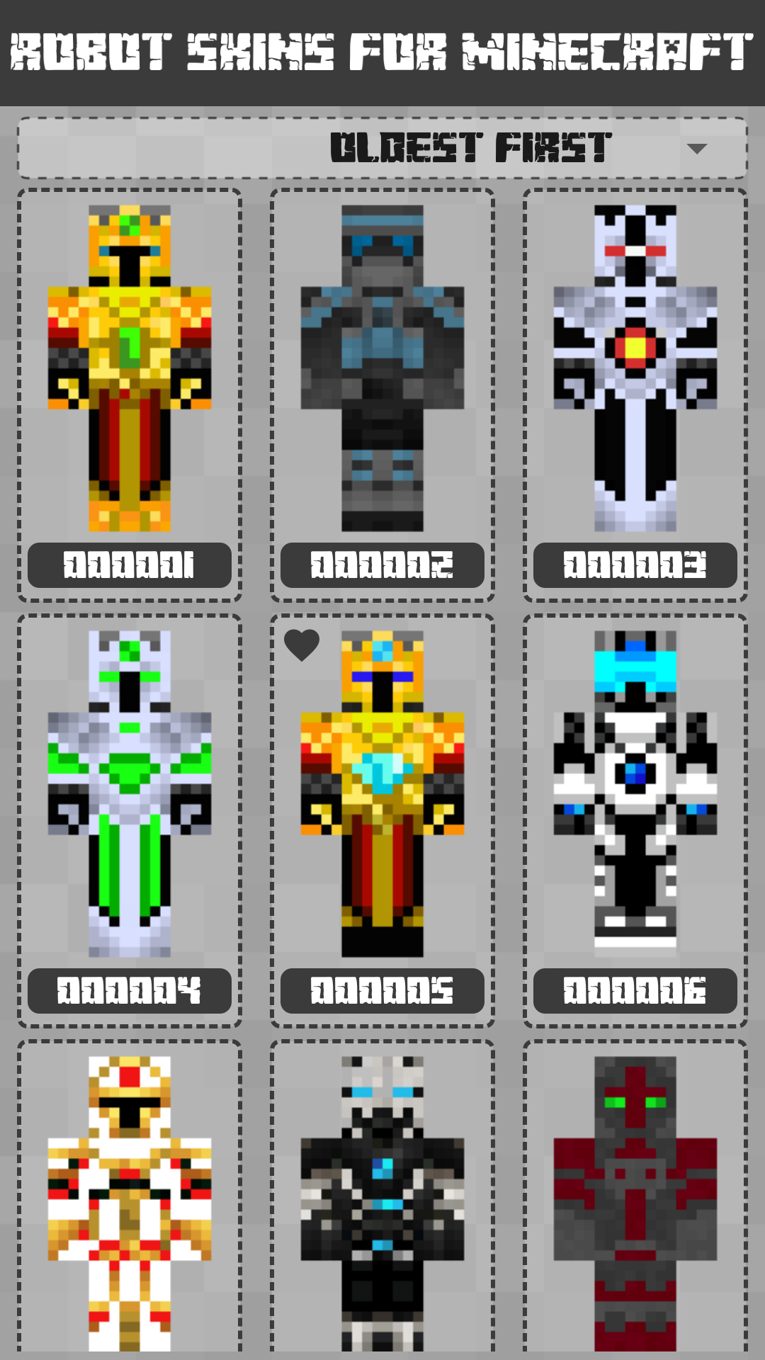 Android Robot Skins for Minecraft PE Screen 2