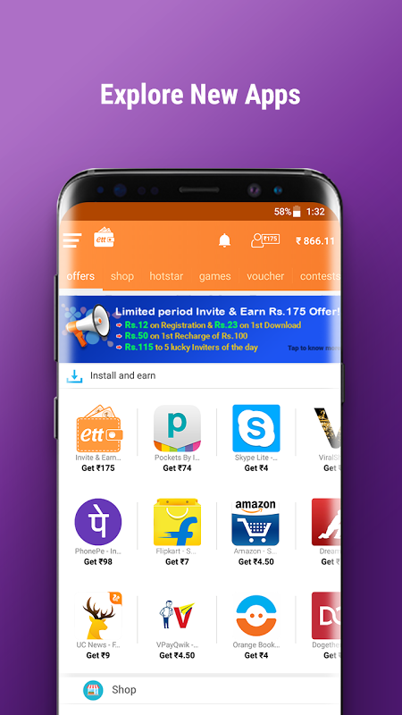 Android Earn Talktime - Get Recharges, Vouchers, & more! Screen 1