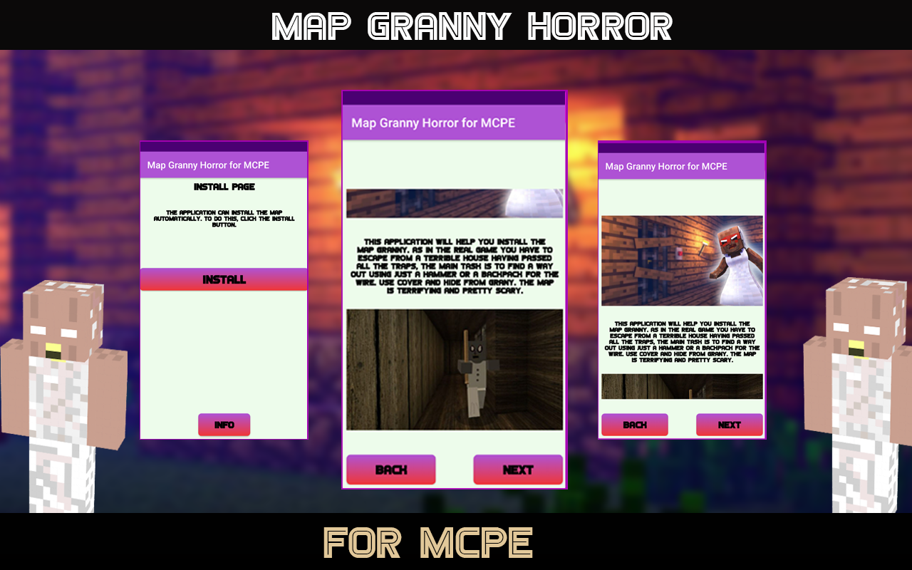 Android Horror Map for MCPE - Granny Screen 2