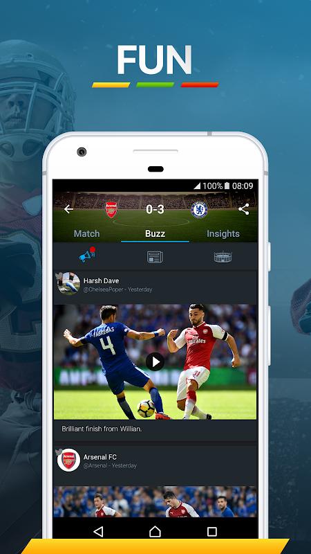 365Scores: Sports Scores Live 5.1.3 Screen 7