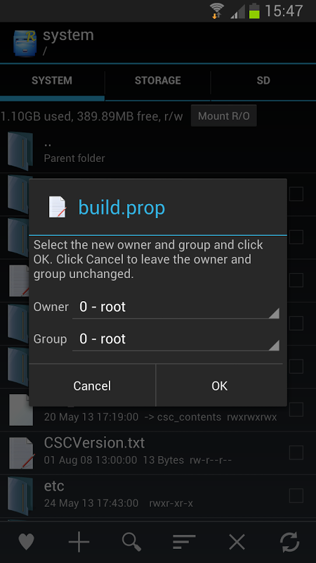 Root Explorer 2.17.2 Screen 6