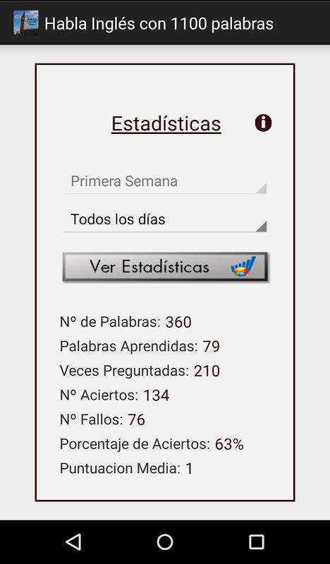 Android Habla Inglés con 1100 palabras Screen 7