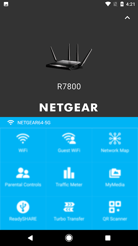 Android NETGEAR Genie Screen 1