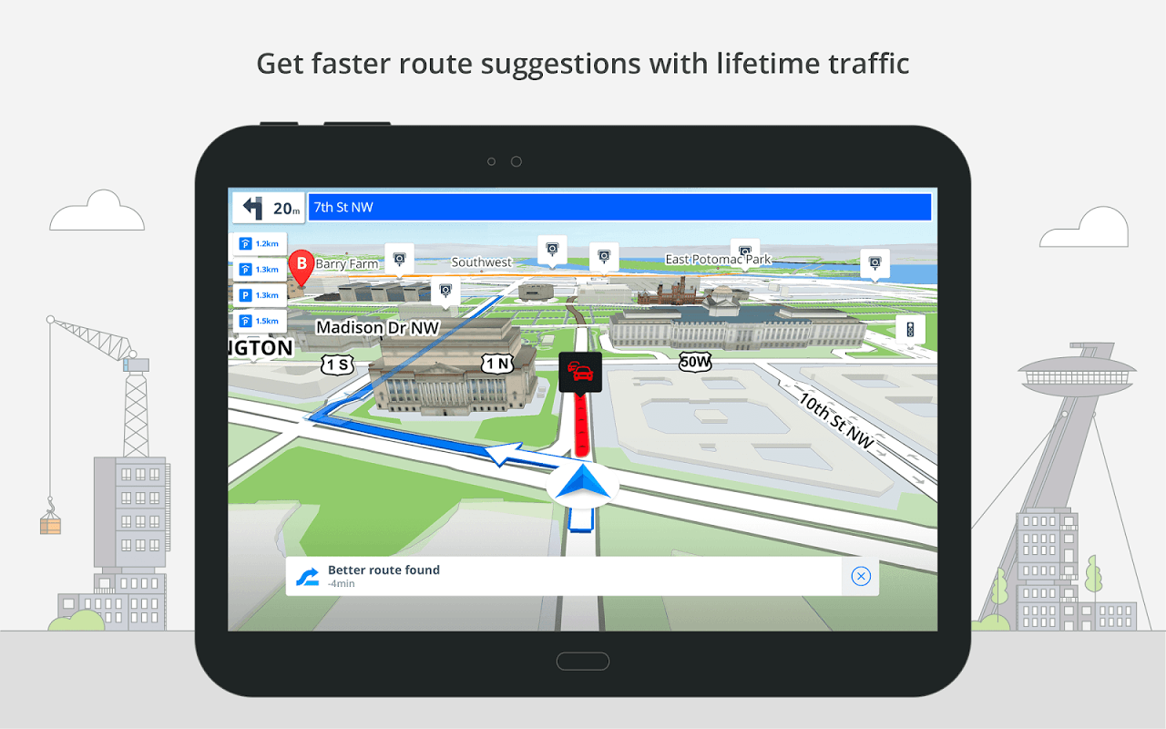 Android Sygic: GPS, Navigation, Offline Maps & Directions Screen 7