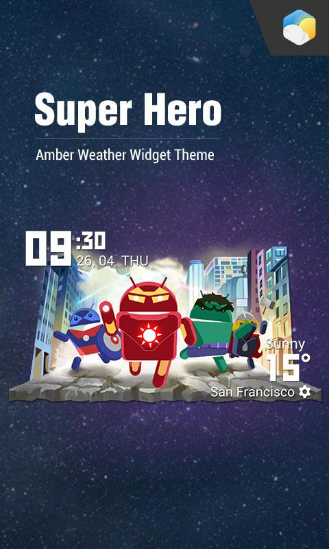 Android SuperHero Screen 2