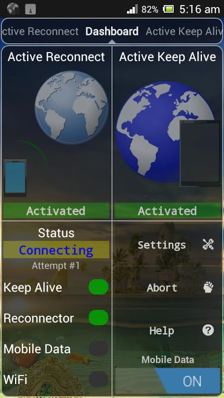 Connection Stabilizer Booster 1.9.4 Screen 1