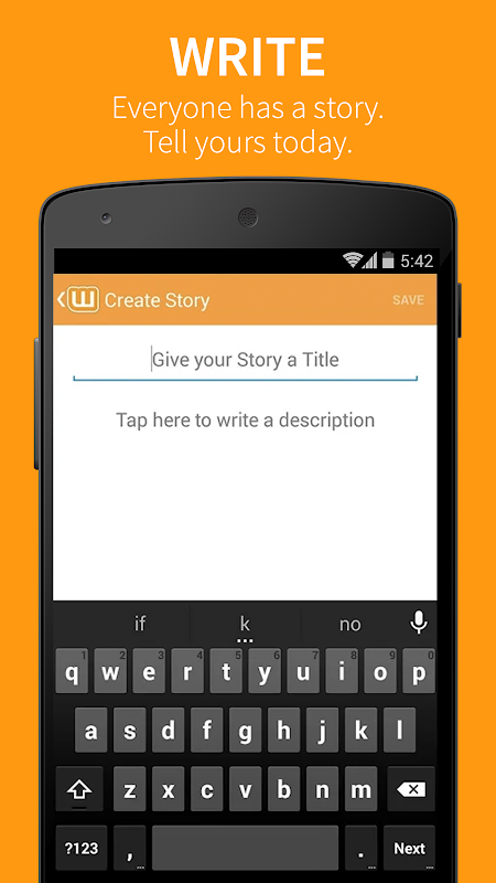 Android Wattpad Screen 5