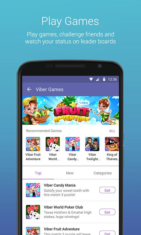 Android Viber Messenger: Text, call and make video calls Screen 9