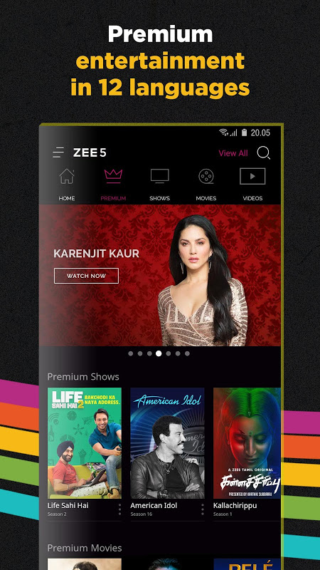 ZEE5 - Movies, TV Shows, LIVE TV & Originals 15.22.32 Screen 2
