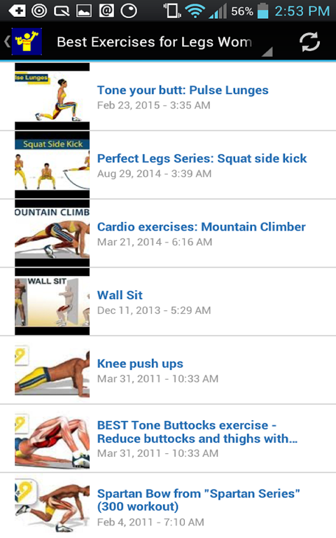 Android Workout Trainer Screen 15