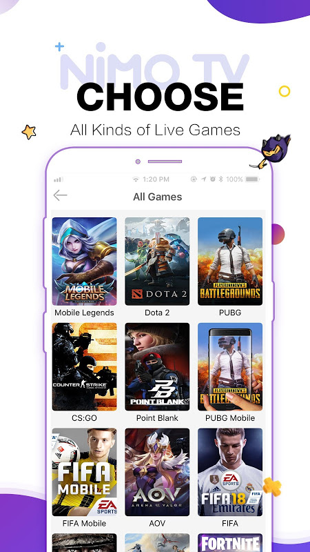 Nimo TV – Play. Live. Share. 1.5.11 Screen 3