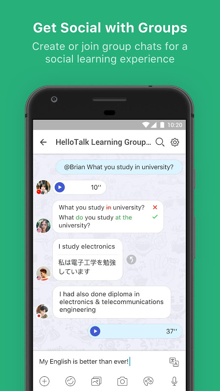 Android HelloTalk Screen 4