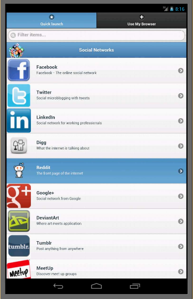 Android Social Networks Mobile Screen 4
