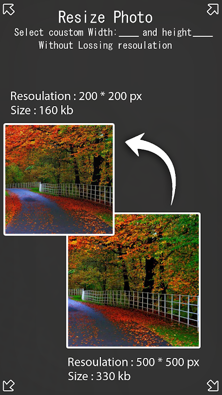 Photo Resize and Compress 1.2 Screen 1